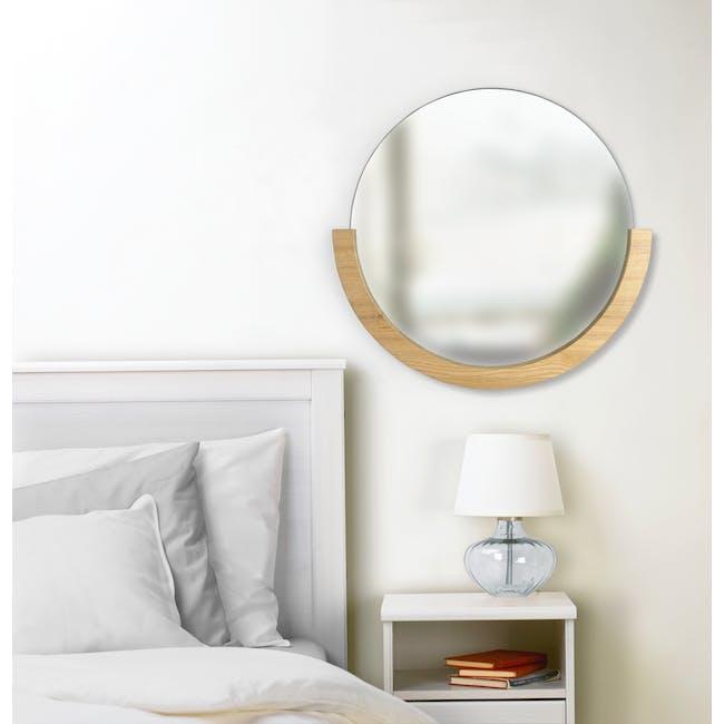 Mira Round Mirror 82 cm - Natural - 4