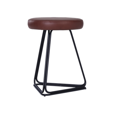 Tivona Stool - Cowhide - Brown, Black - Image 2