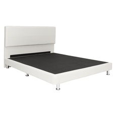 Amsterdam Headboard Bed - White (Faux Leather)