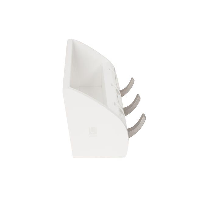 Cubby Mini Key Hook & Organiser - White - 3