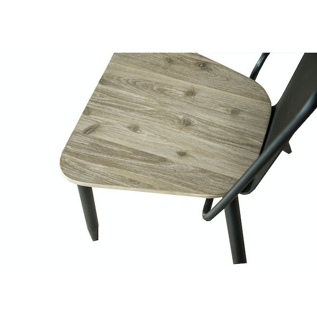 Ryland Concrete Dining Table 1.6m and 4 Starck Dining Chairs - 11