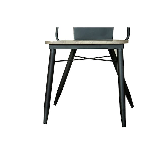 Ryland Concrete Dining Table 1.6m and 4 Starck Dining Chairs - 13