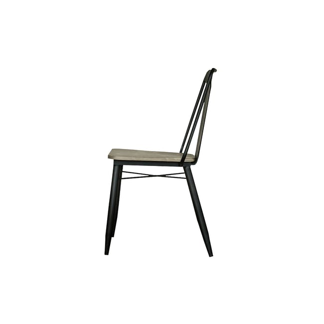 Ryland Concrete Dining Table 1.6m and 4 Starck Dining Chairs - 8