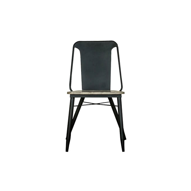 Ryland Concrete Dining Table 1.6m and 4 Starck Dining Chairs - 9