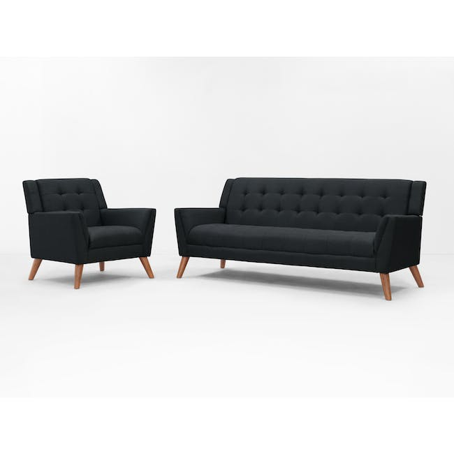 Stanley 3 Seater Sofa with Stanley Armchair - Orion - 14