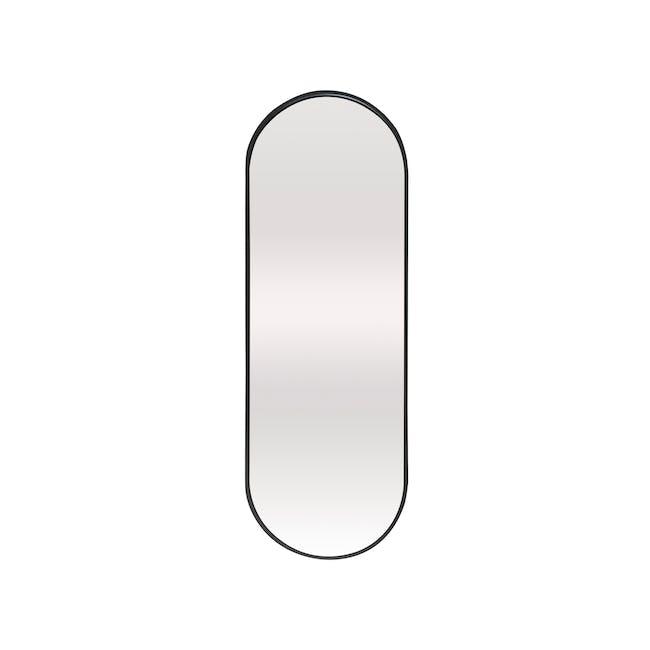 Arvi Oval Half-Length Mirror 30 x 90 cm - Black - 0