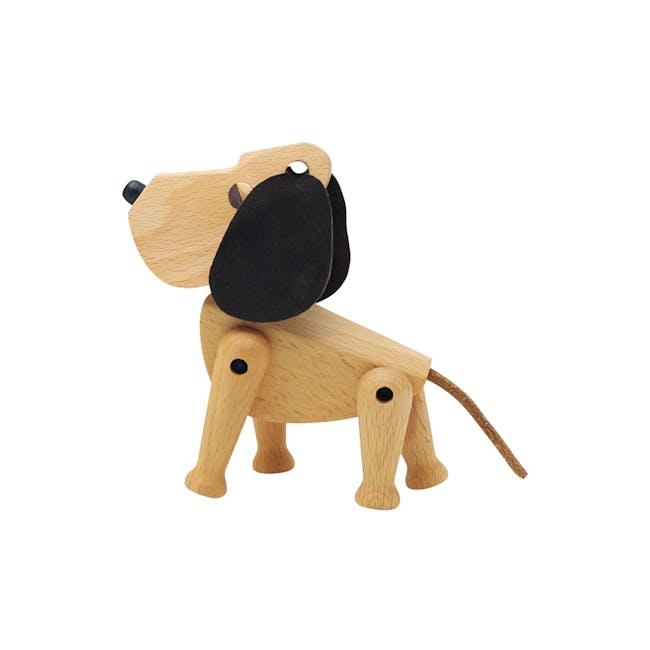Craig the Dog - Beech Wood Sculpture (Medium) - 0