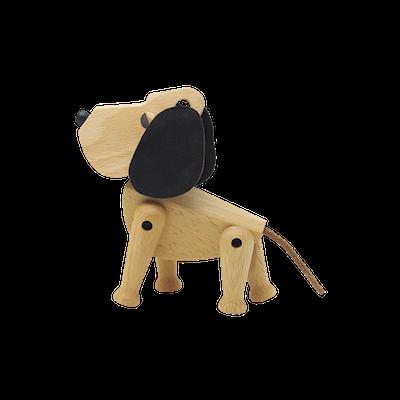 Craig the Dog - Beech Wood Sculpture (Medium) - Image 2