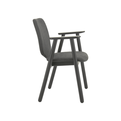 Missie Dining Arm Chair - Black, Dark Grey