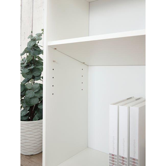 Hitoshi 3-Tier Bookshelf - White - 5