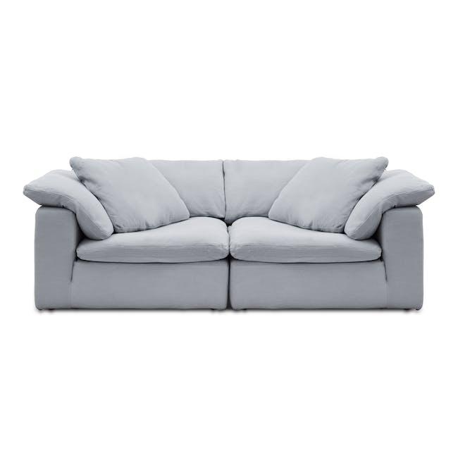Luscious Cloud 3 Seater Sofa - Light Grey (Fabric), Down Feathers - 0