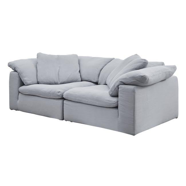 Luscious Cloud 3 Seater Sofa - Light Grey (Fabric), Down Feathers - 1