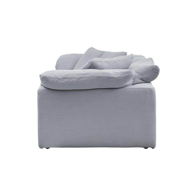 Luscious Cloud 3 Seater Sofa - Light Grey (Fabric), Down Feathers - 3