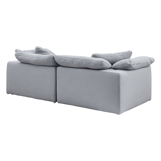 Luscious Cloud 3 Seater Sofa - Light Grey (Fabric), Down Feathers - 2
