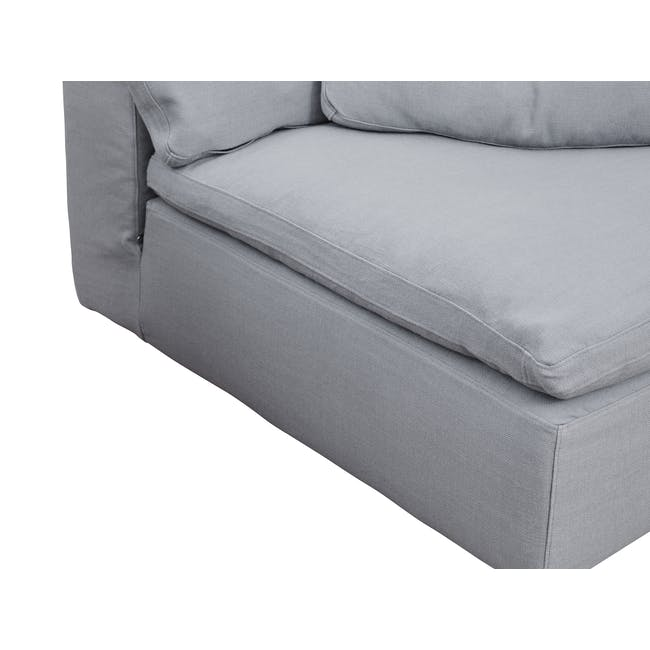 Luscious Cloud 3 Seater Sofa - Light Grey (Fabric), Down Feathers - 4