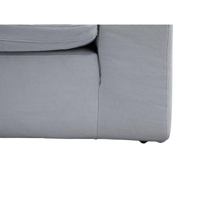 Luscious Cloud 3 Seater Sofa - Light Grey (Fabric), Down Feathers - 5