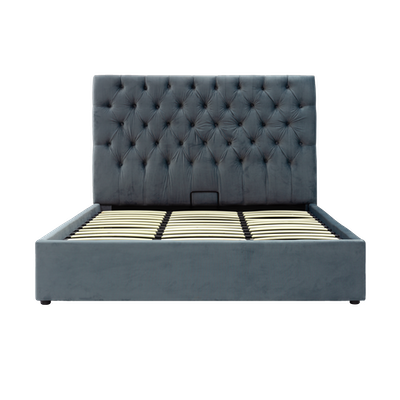 Isabelle Queen Storage Bed - Grey (Velvet) - Image 2