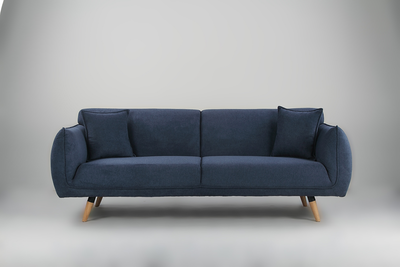 Cozy 3 Seater Sofa - Dark Blue - Image 2