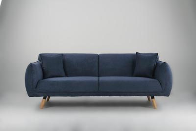Cozy 3 Seater Sofa - Dark Blue