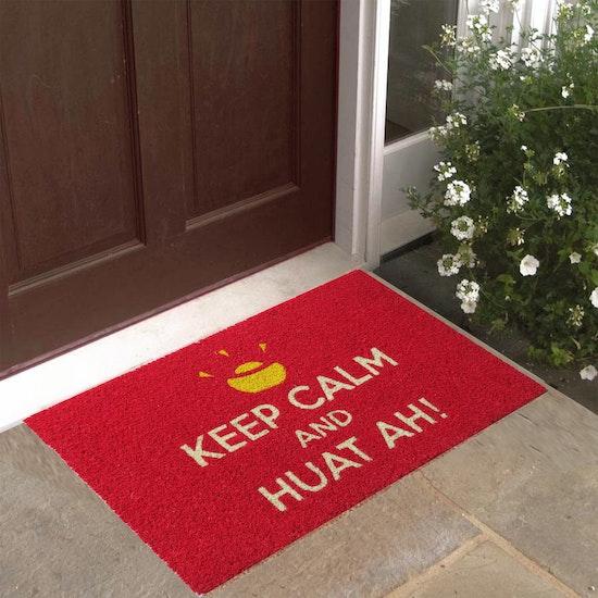 Mats Matter - Keep Calm and Huat Ah Coir Door Mat