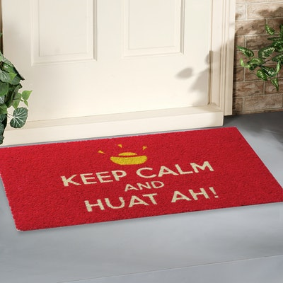 Keep Calm and Huat Ah Coir Door Mat - Image 2
