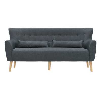 (As-is) Sofia 3 Seater Sofa - Carbon - 2 - Image 1