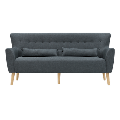 (As-is) Sofia 3 Seater Sofa - Carbon - 5 - Image 1