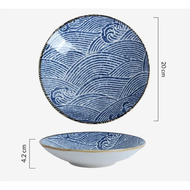 Table Matters Ripple Coupe Plate - 6