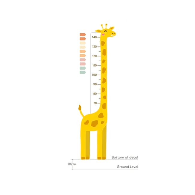 Urban Li'l Giraffe Height Chart Fabric Decal - 1