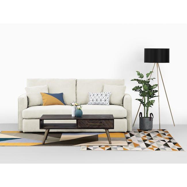 Ashley L-Shaped Lounge Sofa -Pearl - 10