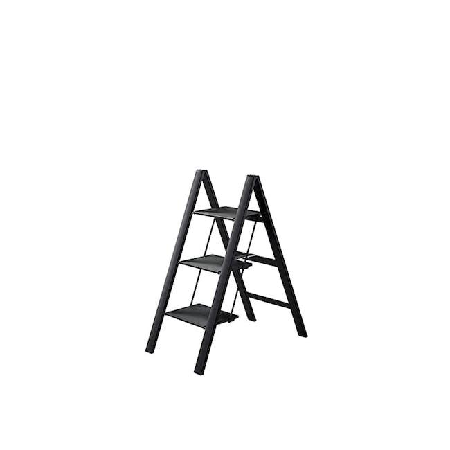 Hasegawa Lucano Slim Aluminium 3 Step Stool - Black - 0