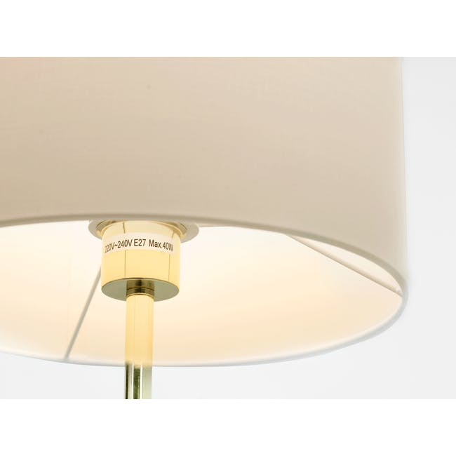 Reese Table Lamp - White, Brass - 1