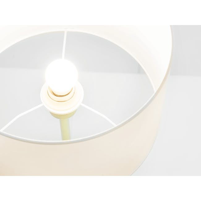 Reese Table Lamp - White, Brass - 2