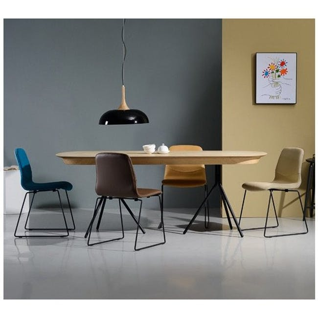Ava Dining Chair - Matt Black, Oasis - 9