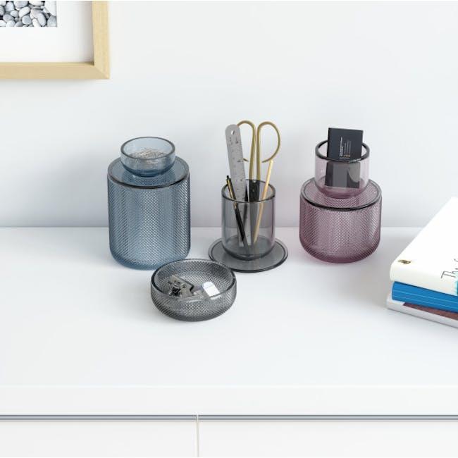 Allira Glass Organiser - Blue - 2