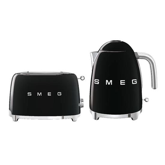HipVan Bundles - Smeg Black Breakfast Set - Toaster and Kettle
