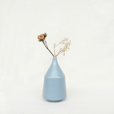 Nordic Matte Vase Short Neck Bud - Blue Grey - Image 2