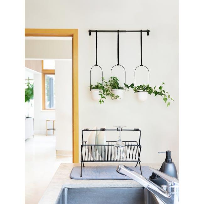 Triflora Hanging Planter - White, Black (Set of 3) - 12