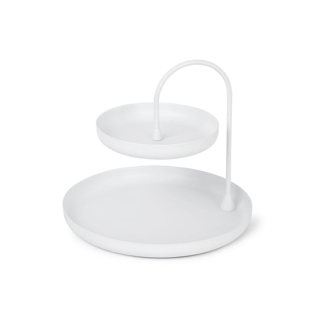 Poise 2-Tiered Tray - White - 0