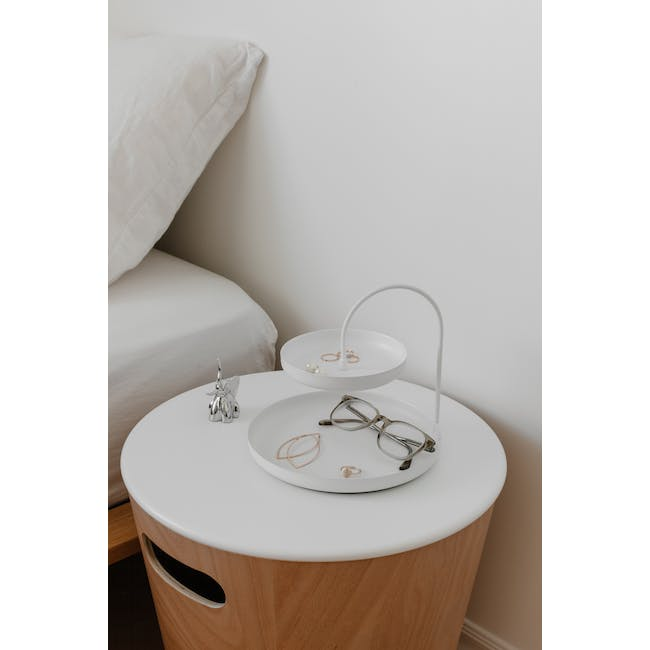 Poise 2-Tiered Tray - White - 7