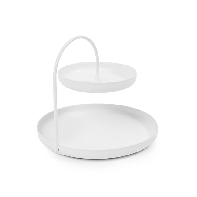 Poise 2-Tiered Tray - White - 3