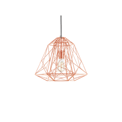 Lola Geometric Pendant Lamp - Copper - Image 2