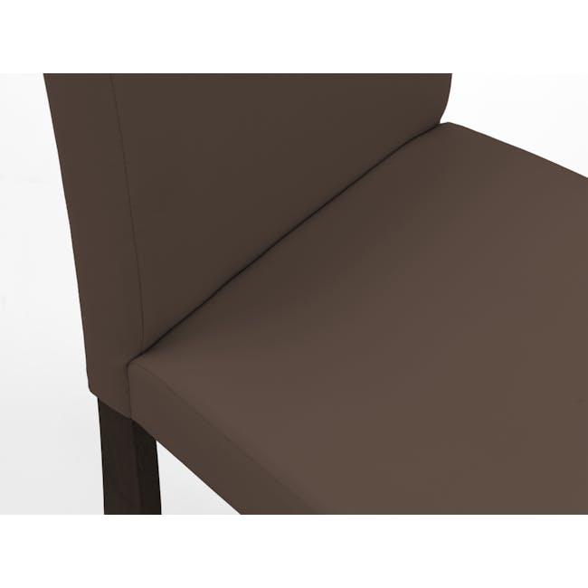 Dahlia Dining Chair - Cocoa, Mocha (Faux Leather) - 6