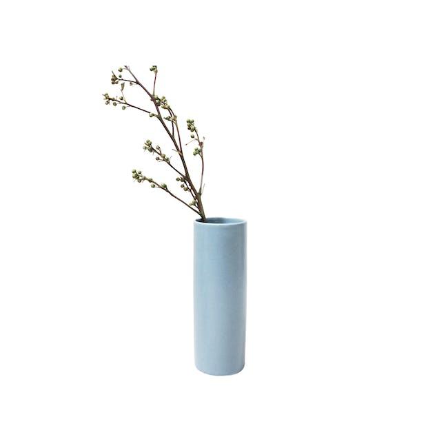 Nordic Matte Vase Medium Straight Cylinder - Blue Grey - 0