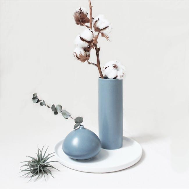 Nordic Matte Vase Medium Straight Cylinder - Blue Grey - 1