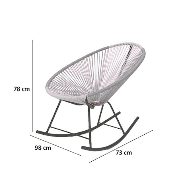 Acapulco Rocking Chair - Robin Blue, White, Black Mix - 2