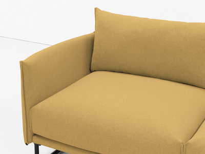 Frank 3 Seater Sofa - Mustard, Down Feathers - Image 2