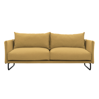 Frank 3 Seater Sofa - Mustard, Down Feathers - Image 1