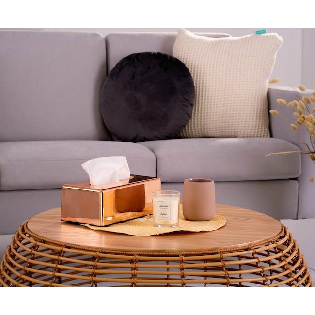 Helen 3 Seater Sofa with Helen Armchair - Silver Fox - 4