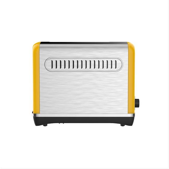 Odette Streamline 4-Slice Bread Toaster - Yellow - 3